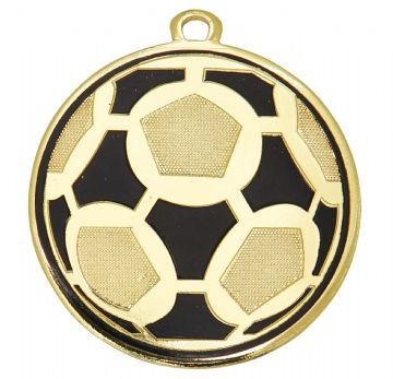 DI5009 50MM 2 Tone Football Medal & Ribbon ( Box Qty 200 ) from only £124.00 = £0.62 each